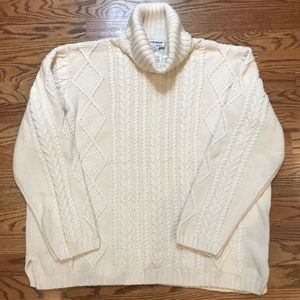 NorthStyle Sweater, Irish Style Turtleneck, New,XL